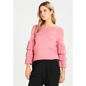 NORDSTROM KAFFE Evie Pullover Ruffle Sleeve Top